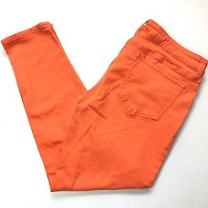 JCP Skinny Ankle Orange High-Stretch Denim 30/10